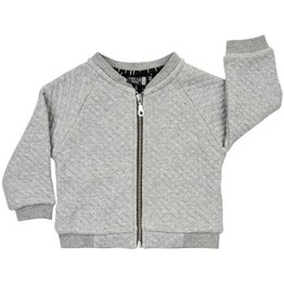 CarlijnQ CarlijnQ Grey/White Rain Bomber Jacket