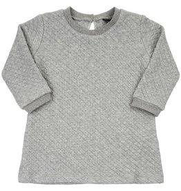 CarlijnQ CarlijnQ Chunky Grey Sweater jurk (Maat 74/80 en 98/104)