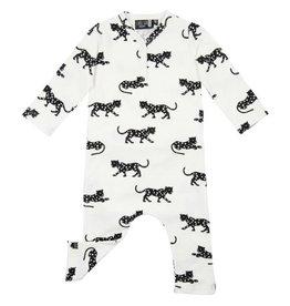 CarlijnQ CarlijnQ jumpsuit Happy Panther (Laatste, mt 74/80)