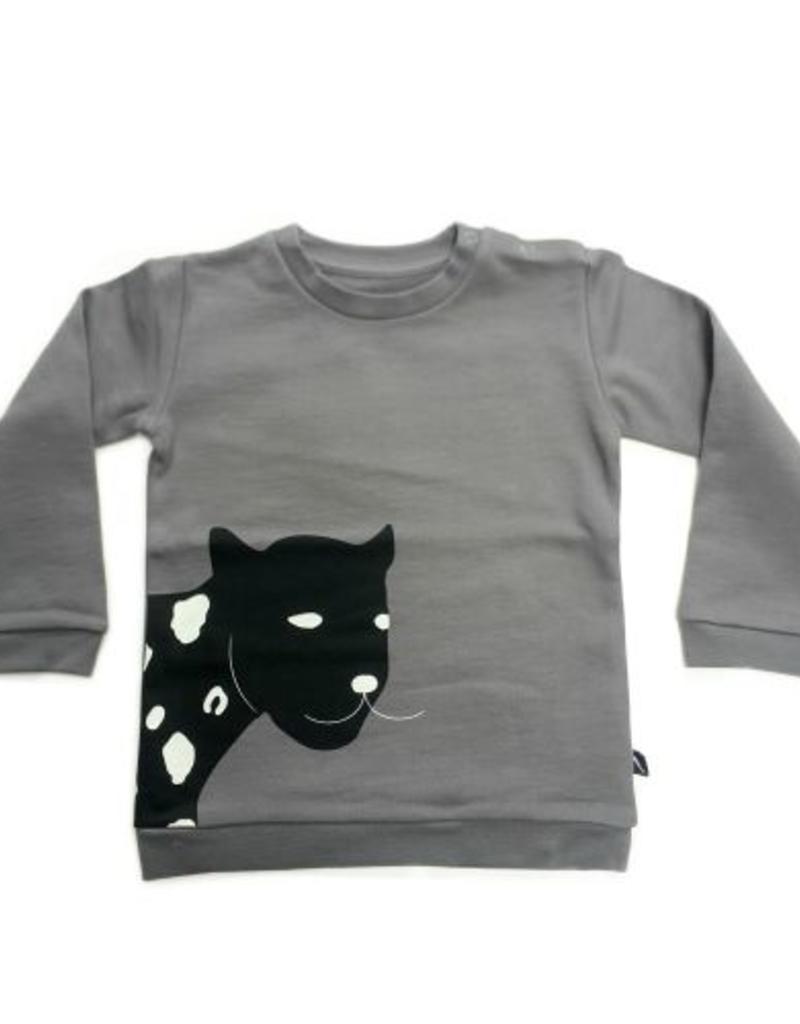 CarlijnQ CarlijnQ Sweater Happy Panther Grey