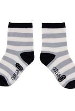 CarlijnQ CarlijnQ sock streep grijs (Laatste! Maat 4-6 jaar)