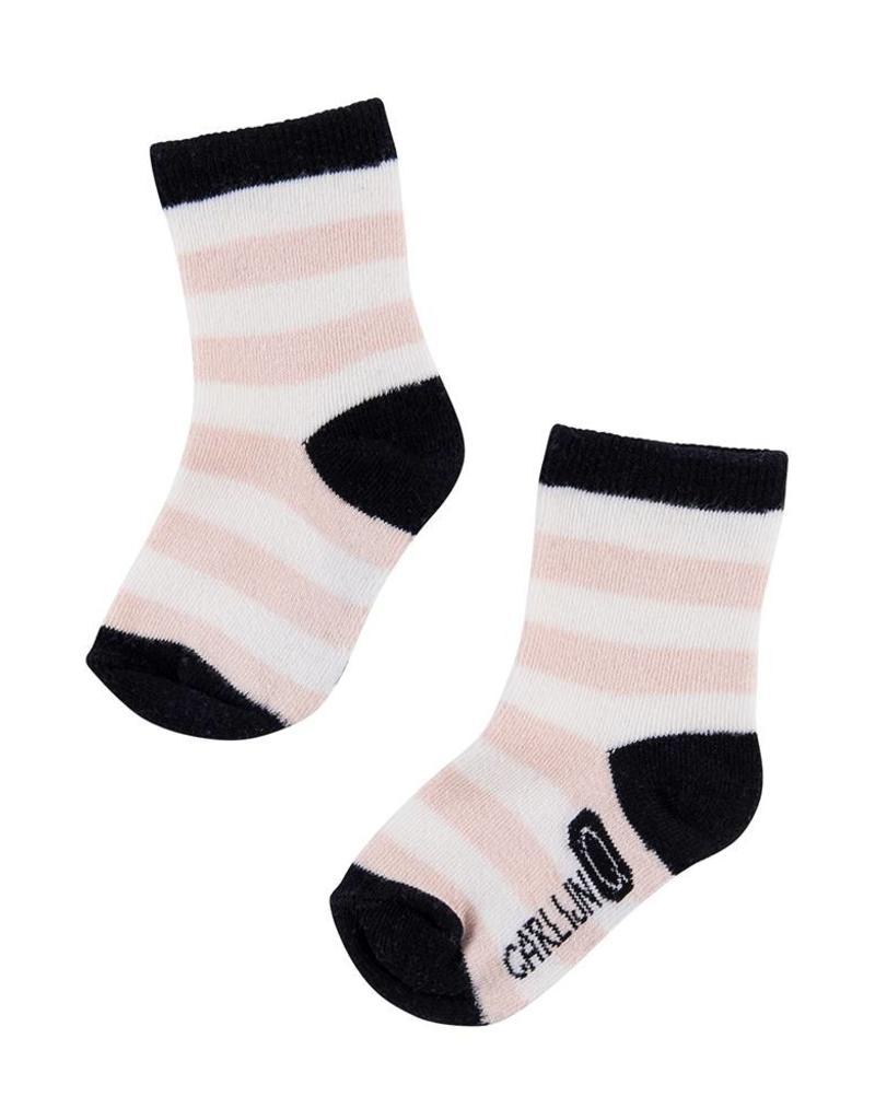 CarlijnQ CarlijnQ sock streep roze (Maat 3-5 en 4-6 jaar)