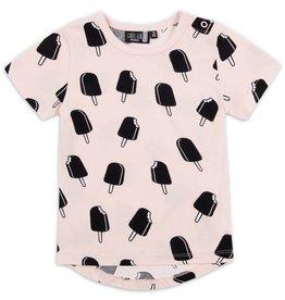 CarlijnQ CarlijnQ Icecream roze t-shirt (Maat 50/56 en 62/68)