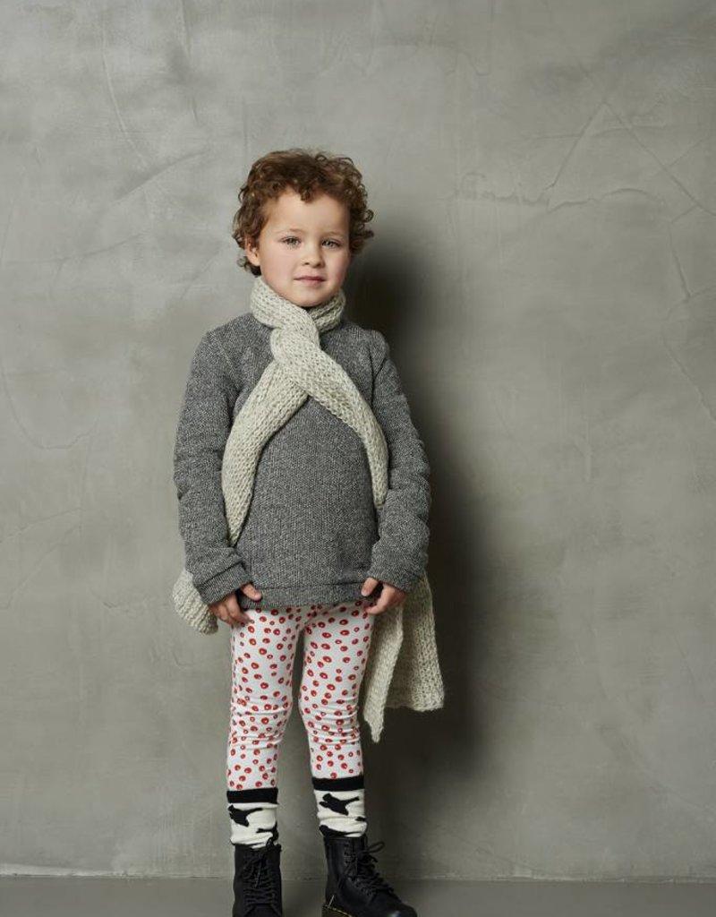 CarlijnQ CarlijnQ sweater zwart/wit gevoerd Knit