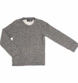 CarlijnQ CarlijnQ sweater zwart/wit gevoerd Knit (Laatste! Maat 110/116)