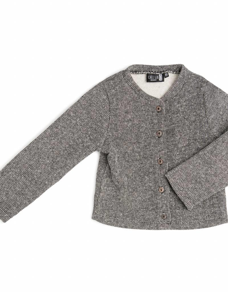 CarlijnQ CarlijnQ vest zwart/wit gevoerd Knit