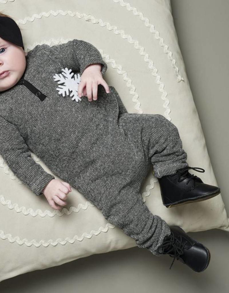 CarlijnQ CarlijnQ jumpsuit zwart/wit gevoerd Knit