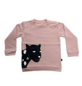 CarlijnQ CarlijnQ Sweater Happy Panther Pink (Laatste! Maat 98/104)