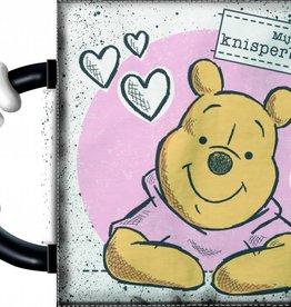 Winnie de Poeh Disney Winnie the Pooh baby Knisperboekje wit/roze