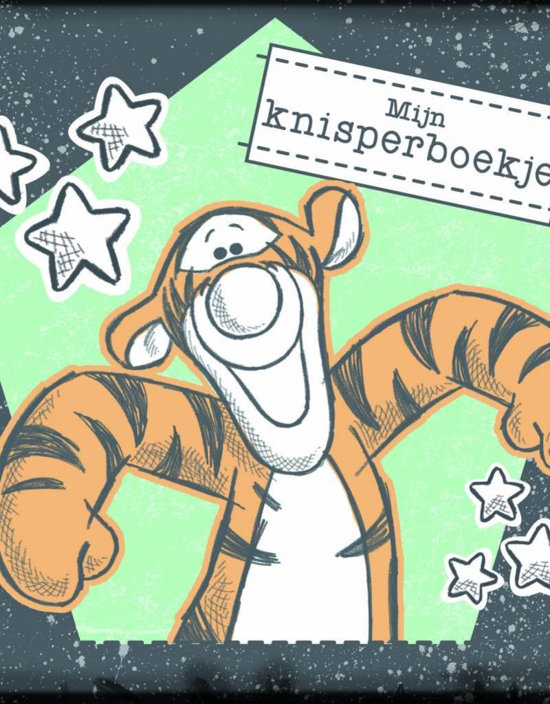 Winnie de Poeh Disney Winnie the Pooh baby Knisperboekje zwart/mint