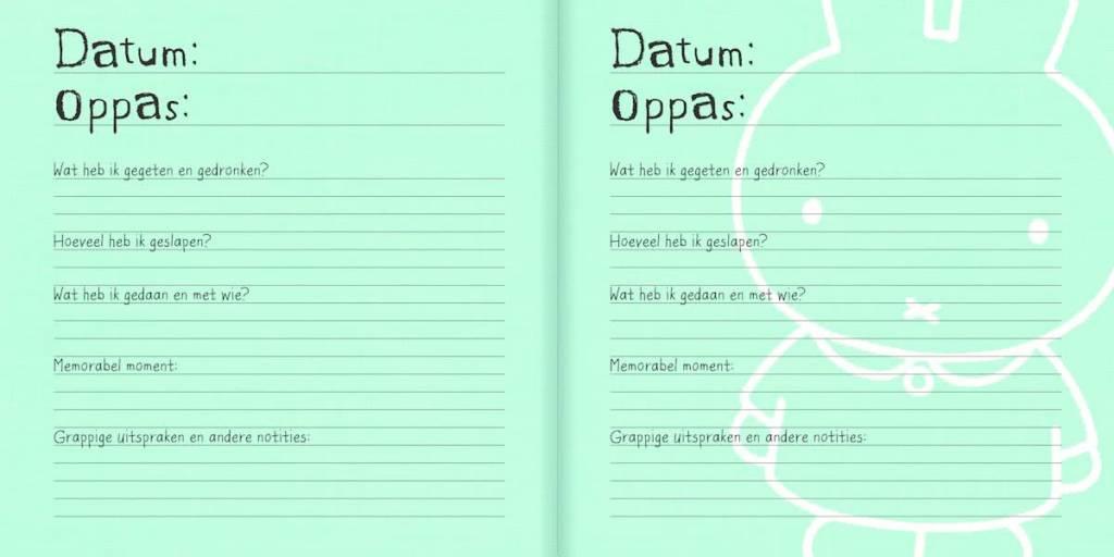 Nijntje Nijntje - Oppasboek / Crecheboek zwart