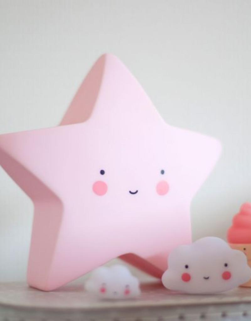 A Little Lovely Company  Mini sterlamp: Roze