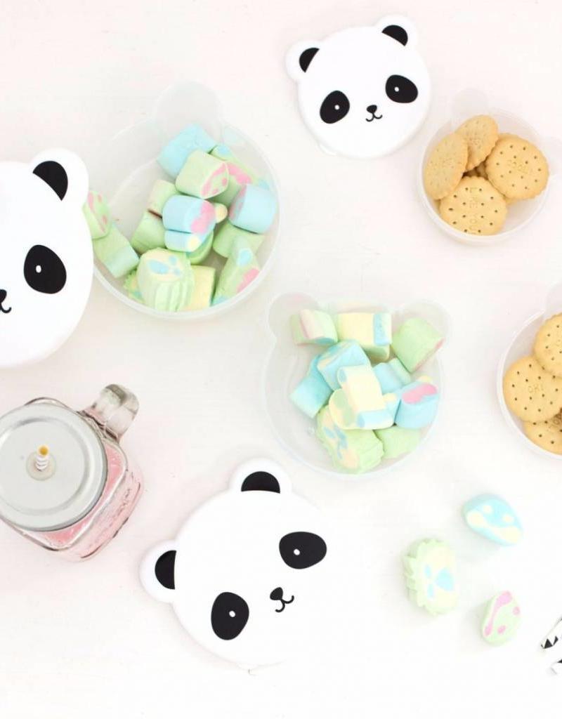 A Little Lovely Company  Snack box: Panda 4-delig