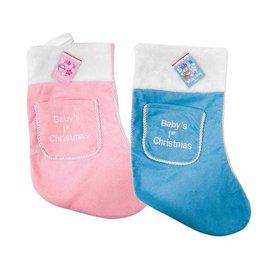 Baby's 1st Christmas sok blauw
