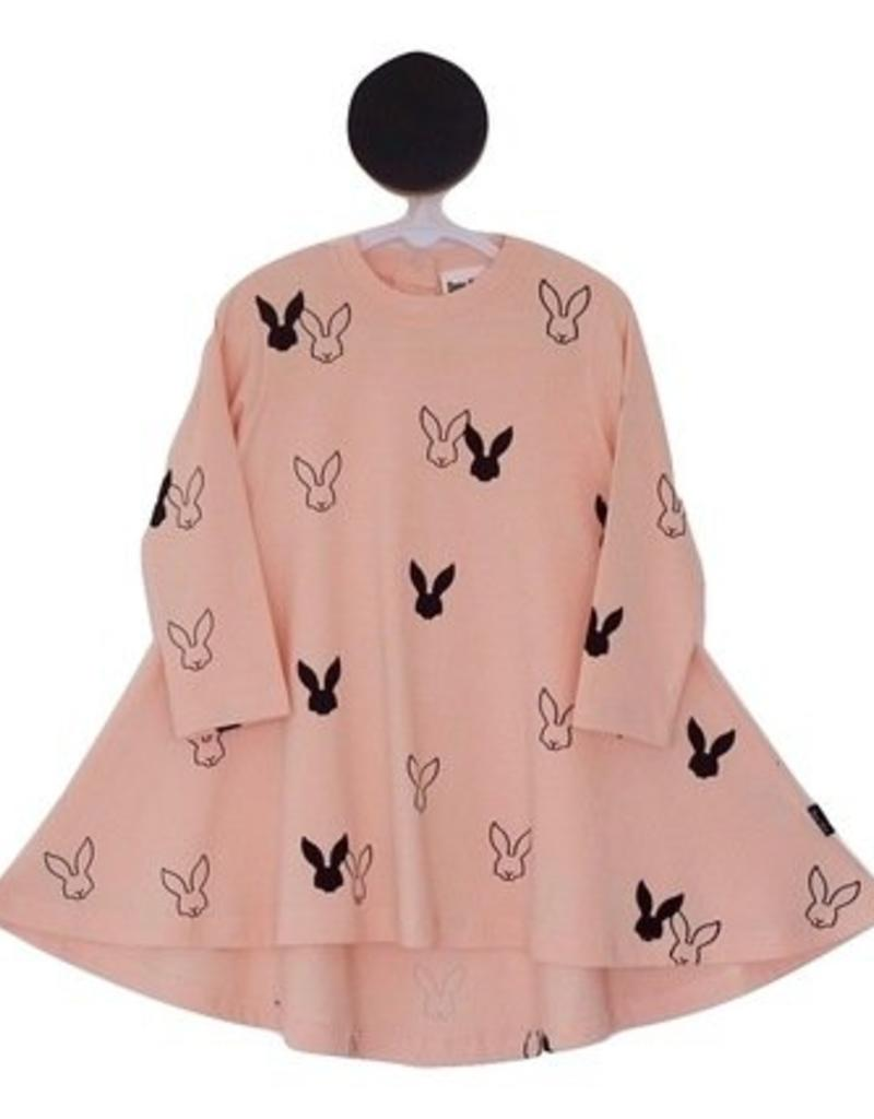Deer One Deer One Peach bunny Love Swing jurk