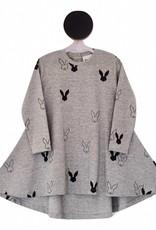 Deer One Deer One Grijs bunny Love Swing jurk