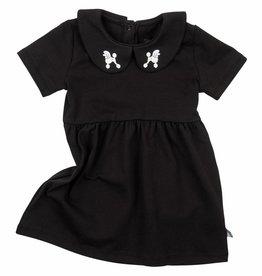 CarlijnQ CarlijnQ Little black collar Poodles jurk
