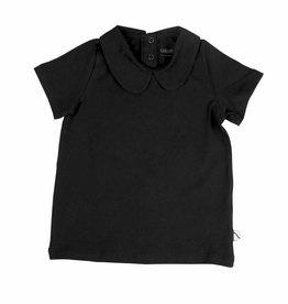 CarlijnQ CarlijnQ t-shirt kraag zwart (Maat 86/92 en 122/128)
