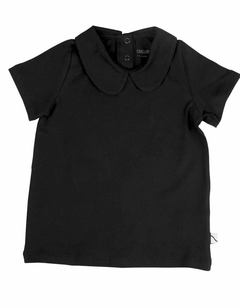 CarlijnQ CarlijnQ t-shirt kraag zwart