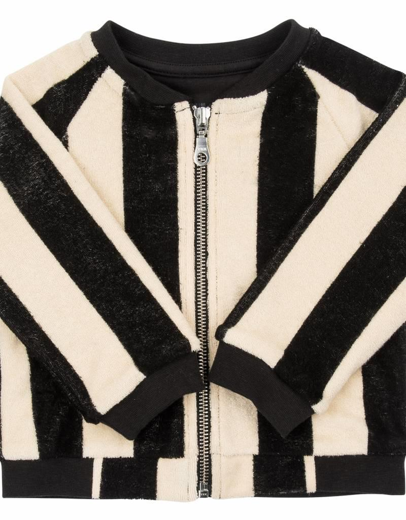 CarlijnQ CarlijnQ Mr. Tiger bomber jacket lined with black jersey