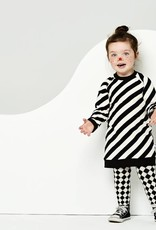 CarlijnQ CarlijnQ Electric zebra sweater jurk (Laatste! Maat 74/80)
