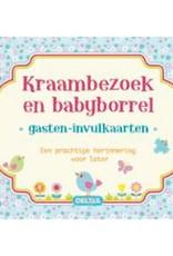 Uitgeverij Deltas Kraambezoek en babyborrel invulkaarten (blauw)