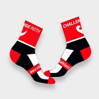 """Challenge Roth Challenge Socks """"High Ankle"""" in Black and Red"""