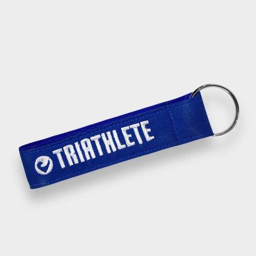 """Challenge Roth Key Chain """"Triathlete"""" Blue"""