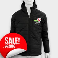"""Challenge Roth """"Padded"""" Jacket with hood in Black"""