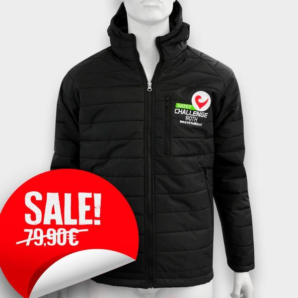 "Challenge Roth ""Padded"" Jacket with hood in Black"