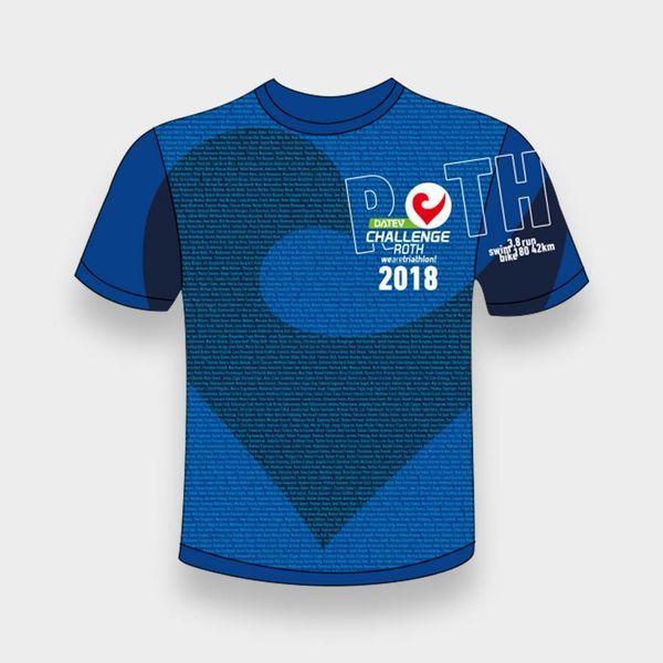 Challenge Roth Challenge Namensshirt DCR 2018 in blau