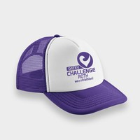 Challenge Roth Challenge Retro Cap in Purple/White