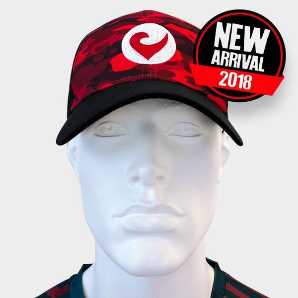 Challenge Technical Trucker red camouflage