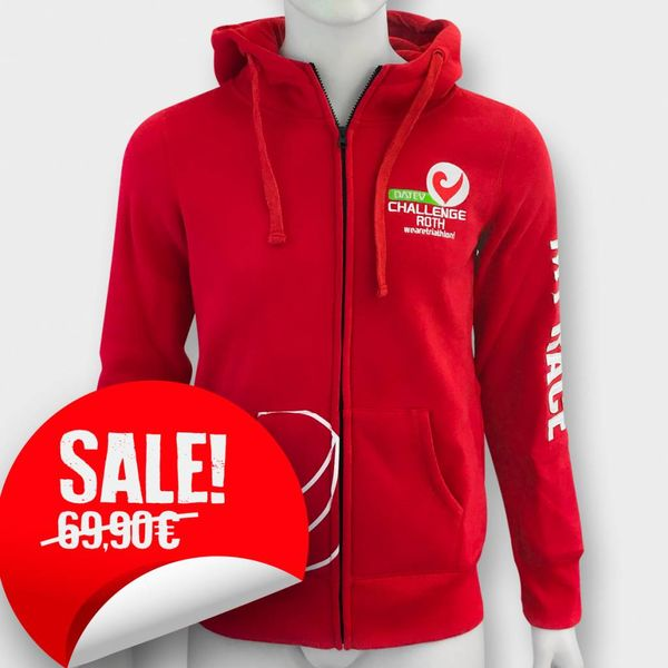 """Challenge Roth Challenge Hoodie """"My Race"""" in Rot"""