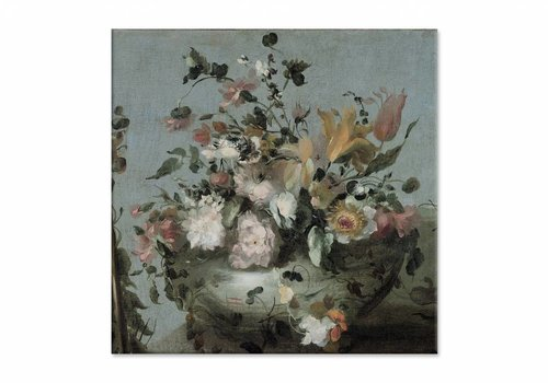 Bloemen • vierkante afdruk op canvas