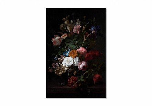 Vaas met bloemen3 • staande afdruk op canvas