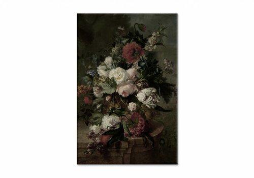 Stilleven met bloemen2 • staande afdruk op canvas