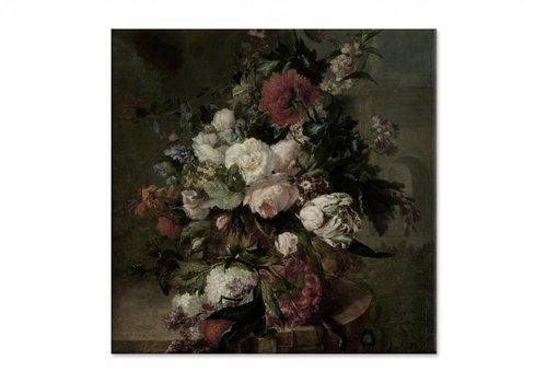 Stilleven met bloemen2 • vierkante afdruk op canvas