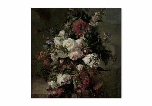 Stilleven met bloemen2 • vierkante afdruk op textiel