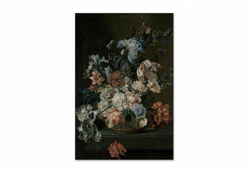 Stilleven met tulpen • staande afdruk op textiel