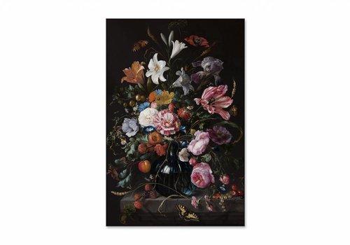 Vaas met bloemen2 • staande afdruk op textiel
