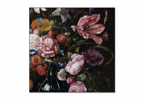 Vaas met bloemen2 • vierkante afdruk op textiel
