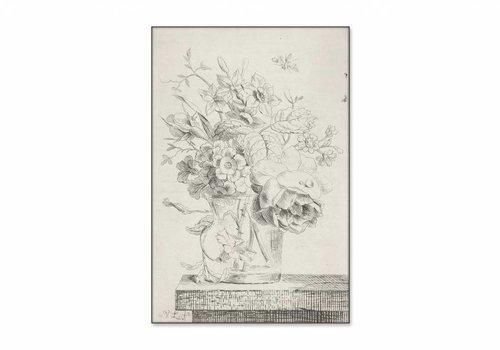 Vaas met bloemen1 • staande afdruk op textiel