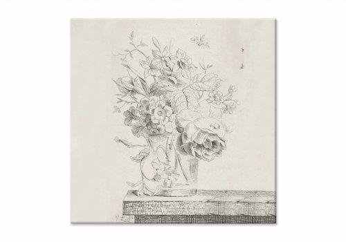 Vaas met bloemen1 • vierkante afdruk op canvas