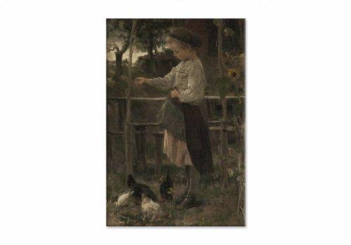 Kippetjes voeren • staande afdruk op canvas