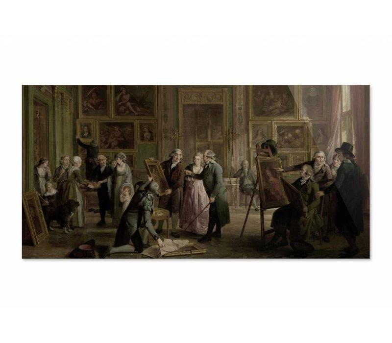 De kunstgalerij van Josephus Augustinus Brentano • liggende afdruk op plexiglas