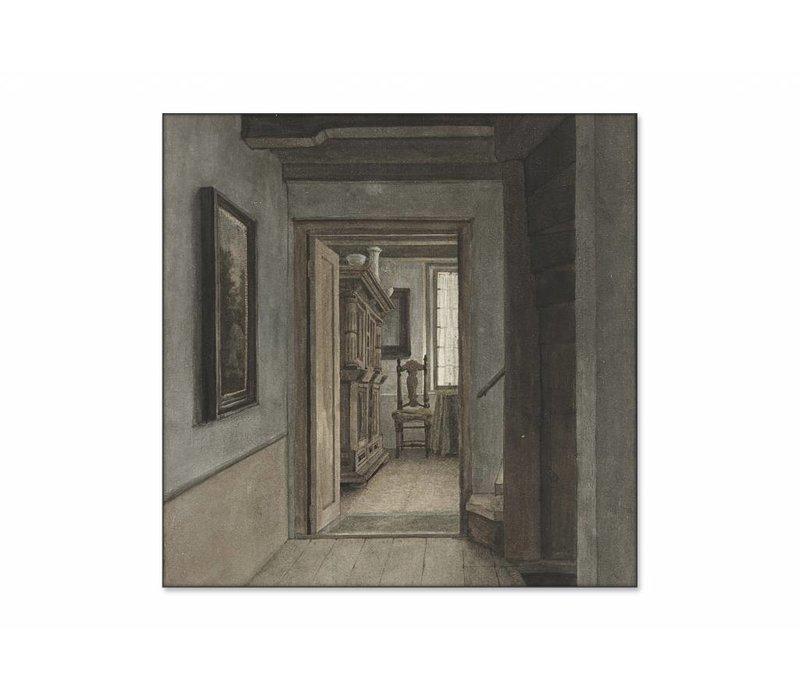 Binnenhuis 1 • vierkante afdruk op textiel