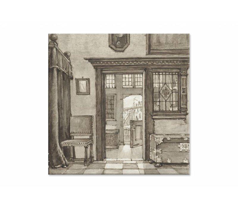 Binnenhuis 2 • vierkante afdruk op canvas