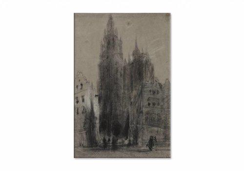 Onze Lieve Vrouwekathedraal van Antwerpen • staande afdruk op canvas