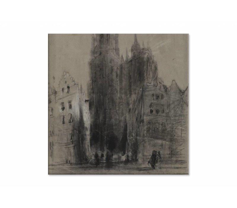 Onze Lieve Vrouwekathedraal van Antwerpen • vierkante afdruk op canvas